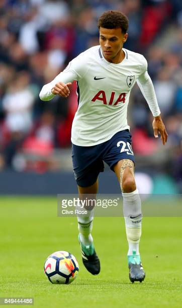 Dele Alli of Tottenham Hotspur during the Premier League match between Tottenham Hotspur and Swansea City at Wembley Stadium on September 16 2017 in...