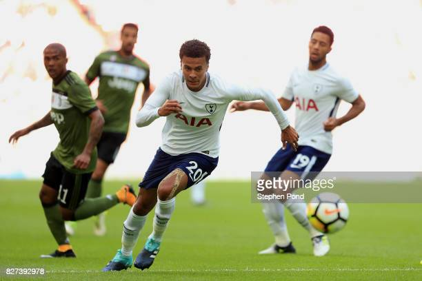 Dele Alli of Tottenham Hotspur during the PreSeason Friendly match between Tottenham Hotspur and Juventus on August 5 2017 in London England