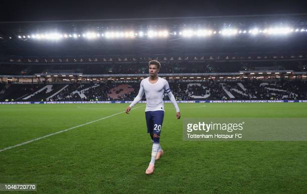 Dele Alli of Tottenham Hotspur leaves the pitch during the Carabao Cup Third Round match between Tottenham Hotspur and Watford at Stadium mk on...