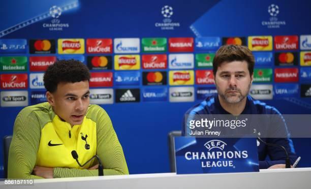 Dele Alli of Tottenham Hotspur speaks to the media during a Tottenham Hotspur press conference at Tottenham Hotspur Training Centre on December 5...