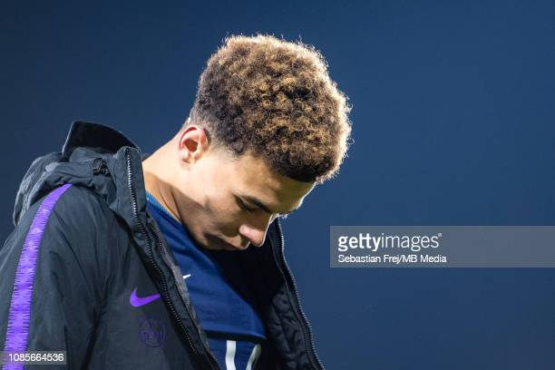 Dele Alli of Tottenham Hotspur walks off the pitch after the Premier League match between Fulham FC and Tottenham Hotspur at Craven Cottage on...
