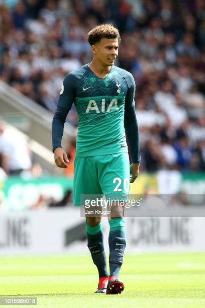Dele Alli Tottenham Hotspur during the Premier League match between Newcastle United and Tottenham Hotspur at St James Park on August 11 2018 in...