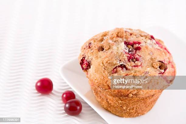 A delectable Cranberry muffin on a plate