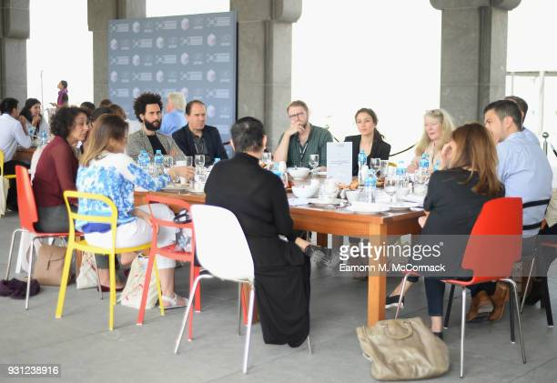 Delegates and filmmakers during the working breakfast session 'How to Serve Niche Audiences for International Art House Films Beyond Festivals' on...