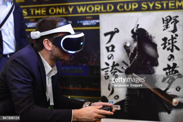 Delegates are seen at the exhibition area on day three of the SportAccord at Centara Grand Bangkok Convention Centre on April 17 2018 in Bangkok...