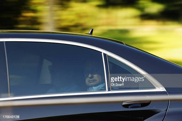 Delegates arrive at The Grove hotel, which is hosting the annual Bilderberg conference, on June 6, 2013 in Watford, England. The traditionally...