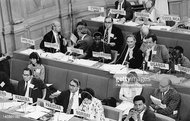 Delegates at the United Nations Conference on the Human Environment Stockholm Sweden 16th June 1972 This was the UN's first major conference on...