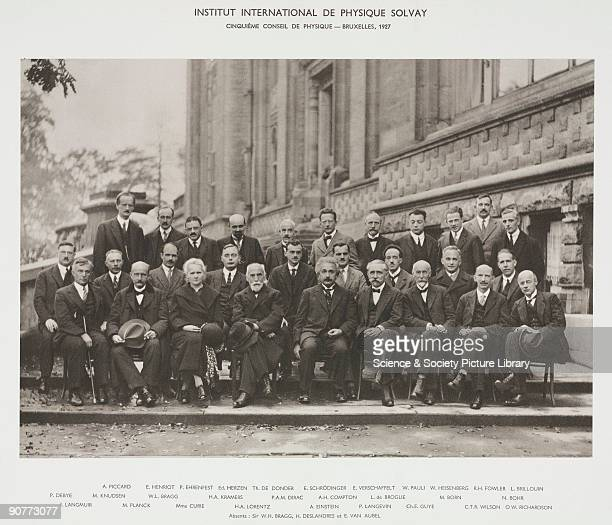 Delegates attending the 5th Solvay Physics Conference in October 1927 The conferences were initiated by Belgian chemist and industrialist Ernest...
