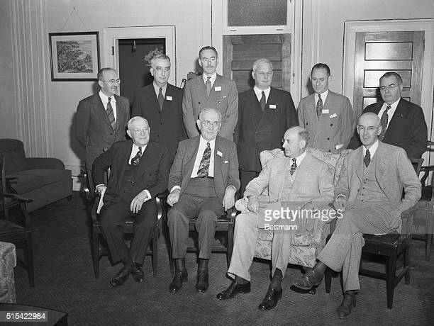 US delegates attending the United Nations Monetary and Financial Conference also known as the Bretton Woods Conference in Bretton Woods New Hampshire...