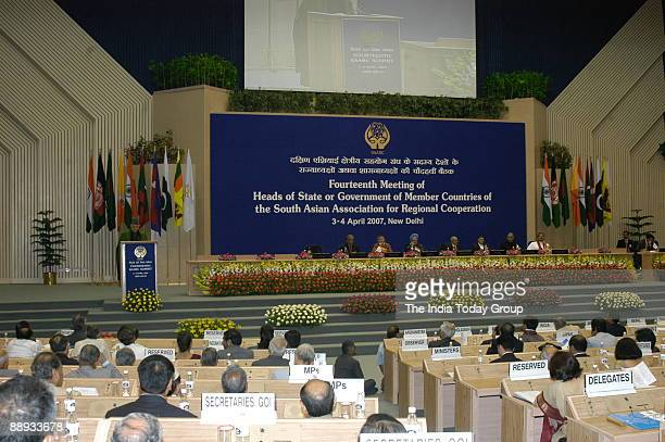 Delegates Bangladesh Chief Advisor Fakhrudeen Ahmed Bhutan Prime Minister Khandu Wangchuk Indian Prime Minister Manmohan Singh Maldives President...