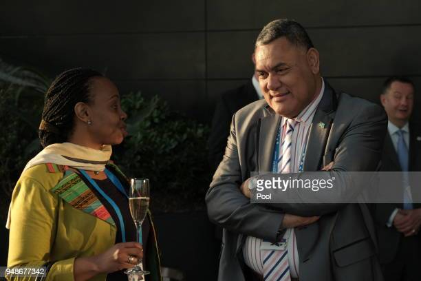 Delegates during a welcome reception for the Commonwealth Heads of Government on day 4 of the Commonwealth Heads of Government Meeting at Sky Garden...