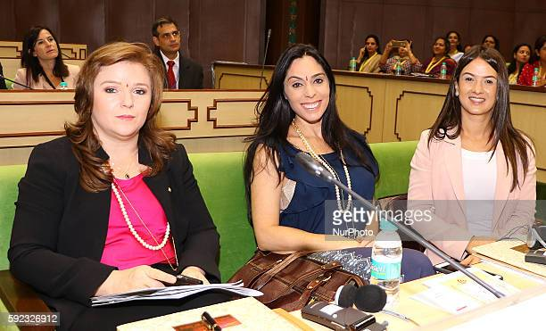 Delegates during Meeting of BRICS Women Parliamentarians Forum' Women Parliamentarians Enablers for achieving sustainable development goals at...