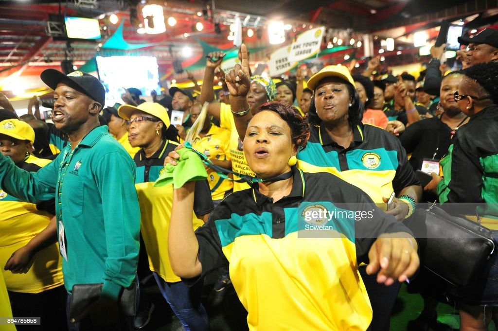 Delegates during outgoing ANC President Jacob Zumas final speech at the partys 54th national elective conference at the Nasrec Expo Centre on December 16, 2017 in Johannesburg, South Africa. In his speech Zuma reminded the ANC of the journey it had taken in 2017 remembering the longest-serving president of the ANC Oliver Reginald Tambo.