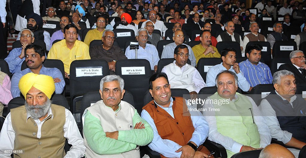 Delegates during the birthday celebration of Balram Ji Dass Tandon at Tagore Theatre Sector 18 on November 10 2016 in Chandigarh India
