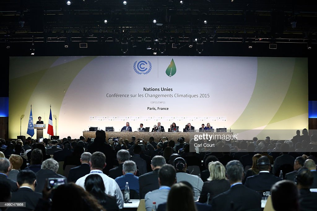 The Prince Of Wales Gives A Keynote Speech At The Opening Ceremony Of The COP21 Climate Change Conference : News Photo