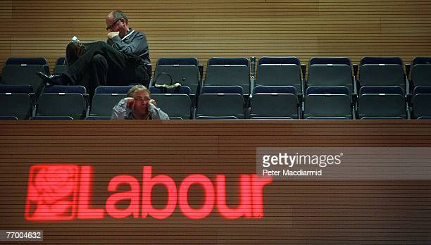 Delegates listen to a debate on the health service at the Labour Party conference on September 25 2007 in Bournemouth England Health and Defence...