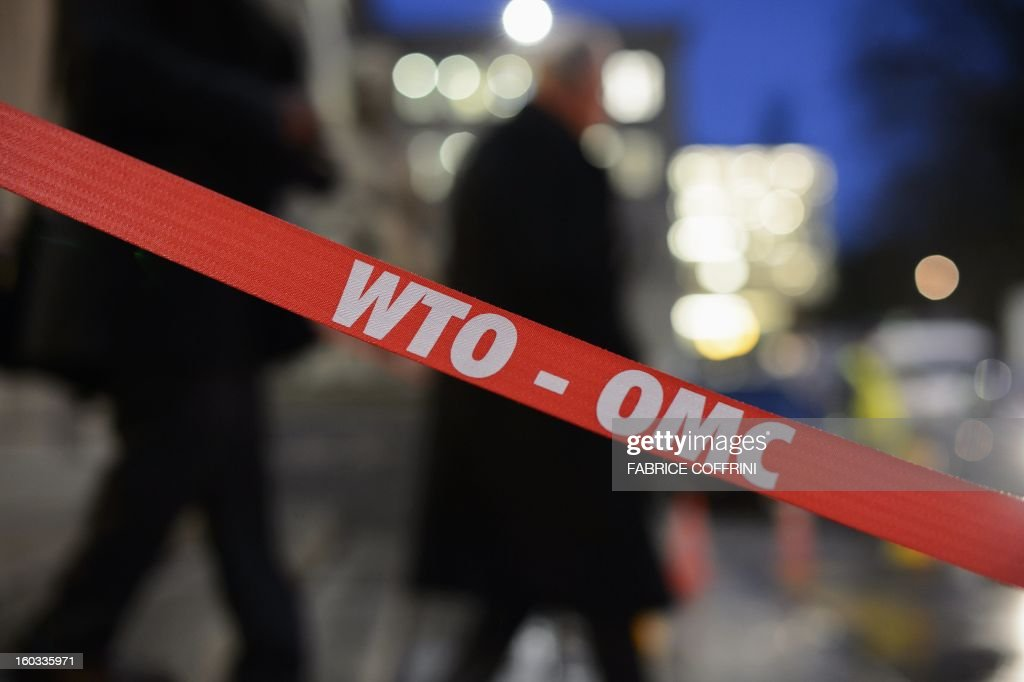 Delegates of the World Trade Organization (WTO) leave after a hearing on January 29, 2013 at the WTO headquarters in Geneva. WTO begins interviewing nine candidates to replace Pascal Lamy as director general. The WTO's 158 member countries is to make its decision known by May 31.