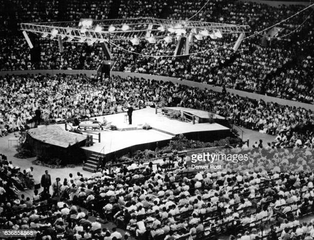 Delegates to Jehovah's Witness Convention Hear of 'New Morality' Delegates at the district convention of Jehovah's Witnesses jam the Denver Coliseum...