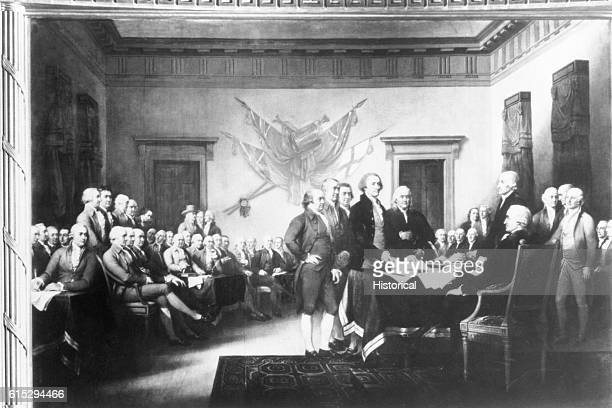 Delegates to the Second Continental Congress in Philadelphia, signing the Declaration of Independence on August 2, 1776. The Declaration stated the...