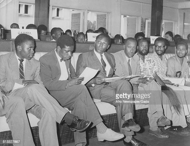 Delegates who attended Freedom Fighter conference Ghana Africa March 1957