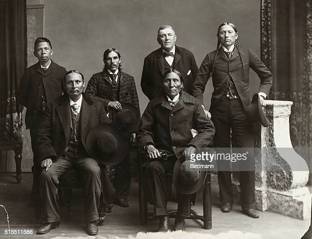 Delegation of Comanche Indians in Washington DC ca1890