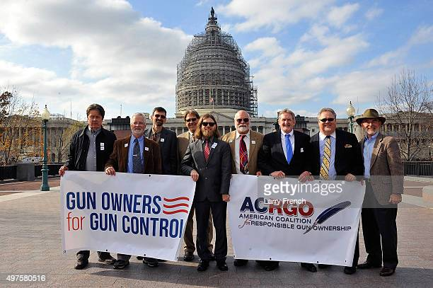 A delegation of gun owners from MoveOnorg demonstrates in front of the US Capitol to urge Congress and the Obama administration to take more...