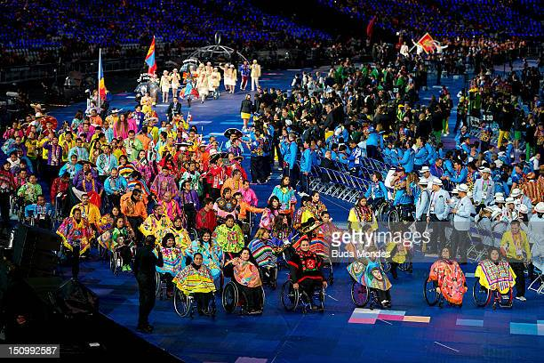 Delegation of Mexico during London Paralympics 2012 Opening Ceremony at the Olympic Stadium on August 29 2012 in London UK