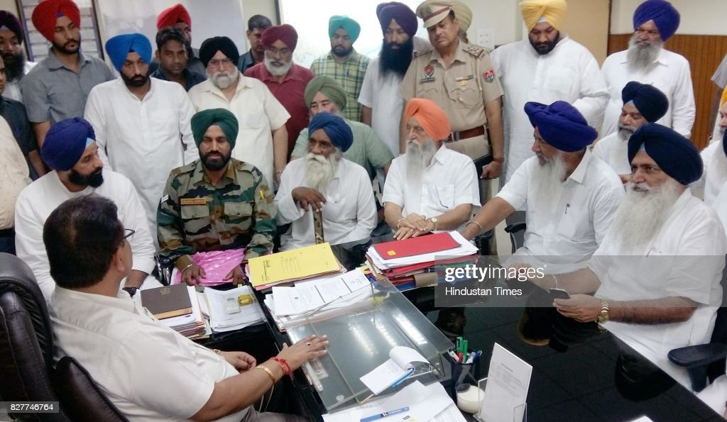 A delegation of SAD leaders led by former cabinet minister Bikram Singh Majithia holds a meeting with Deputy Commissioner Tarn Taran Pardeep Kumar...
