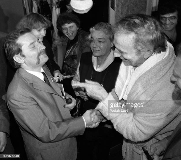 A delegation of the Solidarity trade union visits France to meet with leaders of the French trade unions Paris France on 21st October 1981 Pictured...