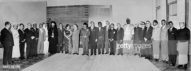 Delegations' chiefs pose 05 September 1961 at the end of the conference of the unaligned countries in Belgrade AFP PHOTO / AFP /