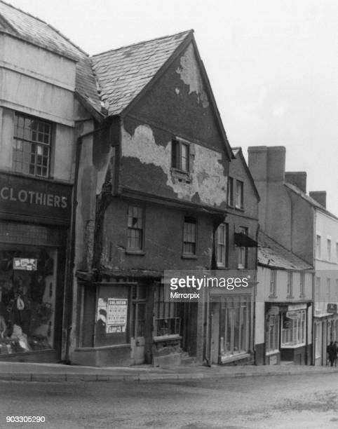 Delelict building in Ship Street Brecon a market town and community in Powys Mid Wales pictured 1962