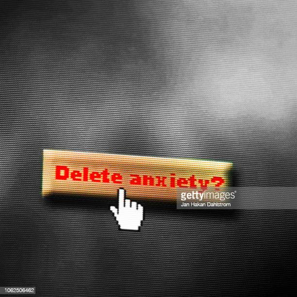 Delete  Anxiety Computer Graphics Text
