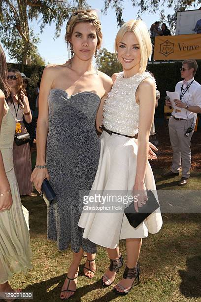 Delfina Blaquier and actress Jaime King attend Veuve Clicquot Polo Classic Los Angeles at Will Rogers State Historic Park on October 9, 2011 in Los...