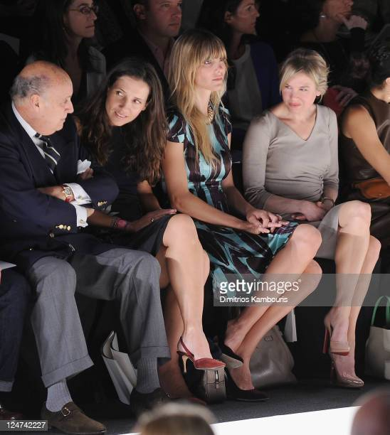 Delfina Blaquier and actress Renee Zellweger attend the Carolina Herrera Spring 2012 fashion show during MercedesBenz Fashion Week at The Theater at...