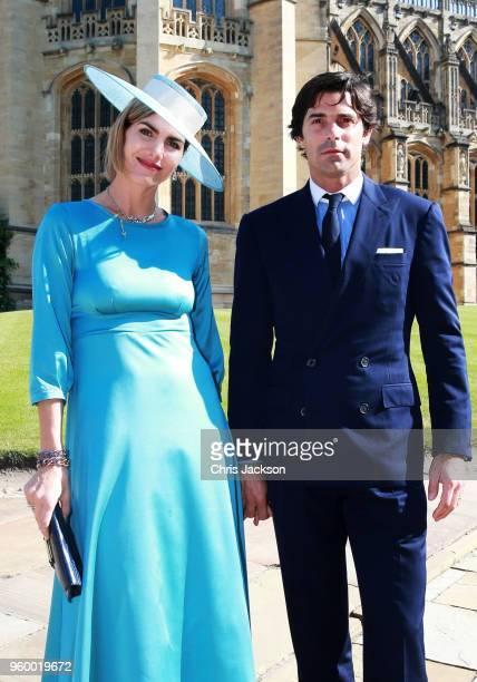 Delfina Blaquier and Nacho Figueras arrive at the wedding of Prince Harry to Ms Meghan Markle at St George's Chapel Windsor Castle on May 19 2018 in...