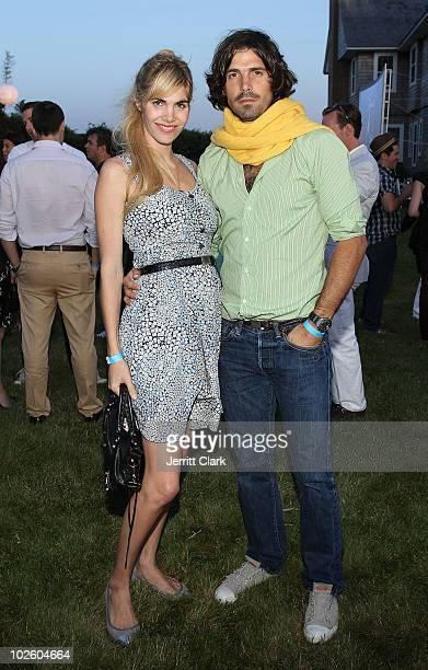 Delfina Blaquier and Nacho Figueras attend the Cinema Society Dior Beauty screening of Grease SingALong on July 2 2010 in Sagaponack New York