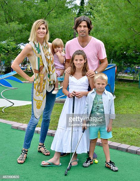 Delfina Blaquier and Nacho Figueras attend the CMEE 6th Annual Family Fair at Children's Museum of the East End on July 19 2014 in Bridgehampton New...
