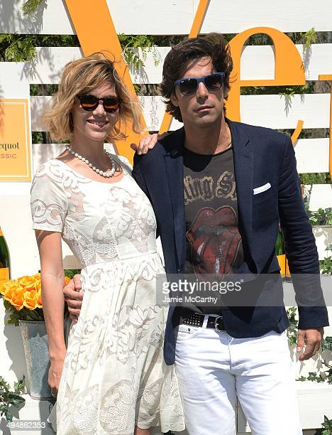 Delfina Blaquier and Nacho Figueras attend the seventh annual Veuve Clicquot Polo Classic in Liberty State Park on May 31 2014 in Jersey City City