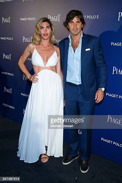 Delfina Blaquier and polo player Nacho Figueras attend the Piaget new timepiece launch at the Duggal Greenhouse on July 14 2016 in New York City