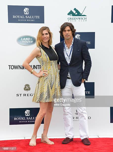 Delfina Blaquier and Polo Player Nacho Figueras attend the The Sentebale Royal Salute Polo Cup at The Greenwich Polo Club on Wednesday 15th May The...