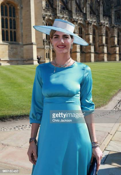 Delfina Blaquier arrives at the wedding of Prince Harry to Ms Meghan Markle at St George's Chapel Windsor Castle on May 19 2018 in Windsor England...