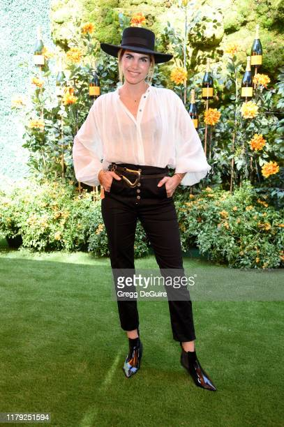 Delfina Blaquier attends the 10th Annual Veuve Clicquot Polo Classic Los Angeles at Will Rogers State Historic Park on October 05 2019 in Pacific...