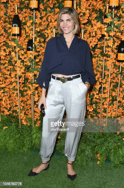 Delfina Blaquier attends the 9th Annual Veuve Clicquot Polo Classic Los Angeles at Will Rogers State Historic Park on October 6 2018 in Pacific...