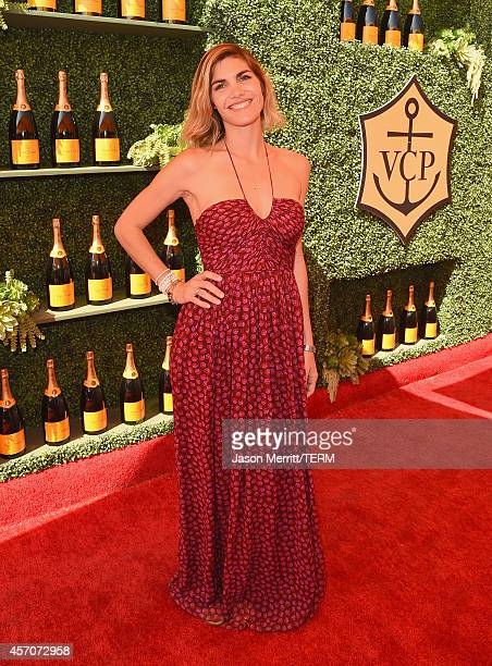 Delfina Blaquier attends the FifthAnnual Veuve Clicquot Polo Classic at Will Rogers State Historic Park on October 11 2014 in Pacific Palisades...