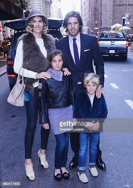 Delfina Blaquier Aurora Figueras professional Polo player Nacho Figueras and Artemio Figueras attend a special event celebrating the holidays at The...