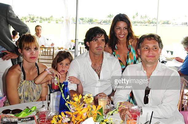 Delfina Blaquier Aurora Figueras Ralph Lauren model and polo player Nacho Figueras Shamin Abas and CEO and Cofounder of Niche media Jason Binn attend...