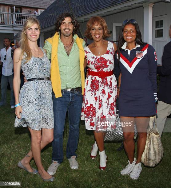 Delfina Blaquier Nacho Figueras Gayle King and Nina Cooper attend the Cinema Society Dior Beauty screening of Grease SingALong on July 2 2010 in...