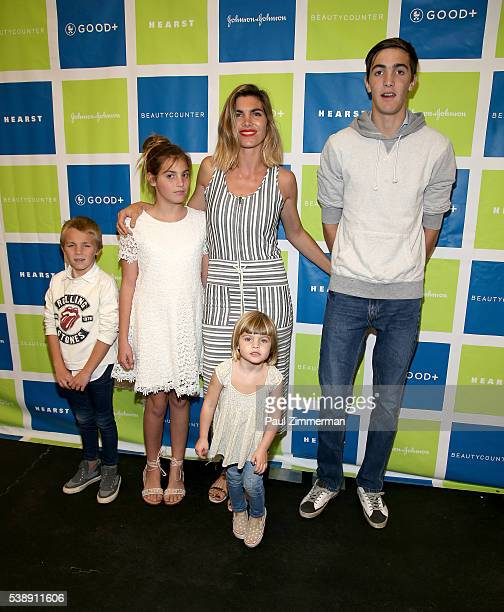 Delfina Blaquier with children Hilario Figueras Artemio Figueras Alba Figueras and Aurora Figueras attend the Jessica and Jerry Seinfeld host GOOD...