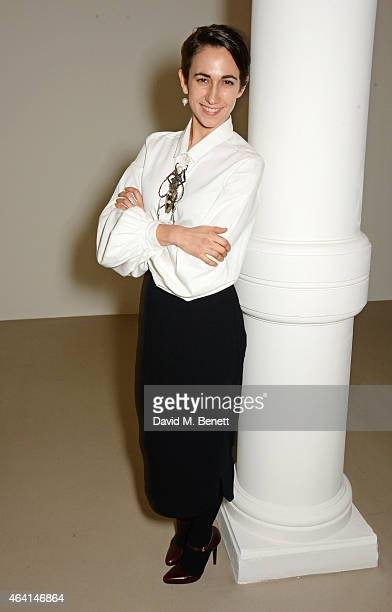Delfina Delettrez attends the Delfina Delettrez London boutique opening dinner during London Fashion Week Fall/Winter 2015/16 on February 22 2015 in...