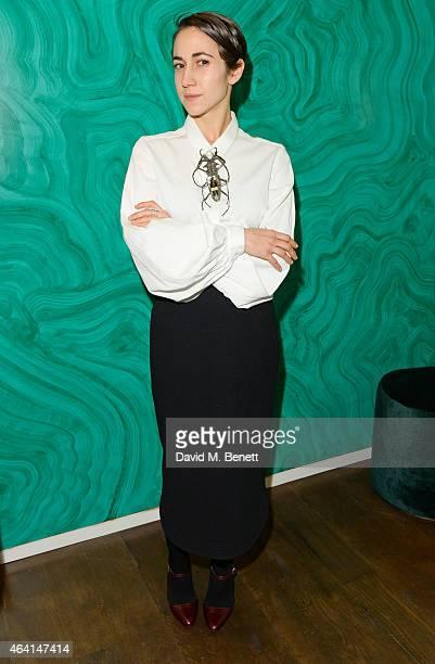 Delfina Delettrez attends the Delfina Delettrez London Boutique Opening during London Fashion Week Fall/Winter 2015/16 on February 22 2015 in London...